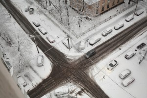 Icy intersection